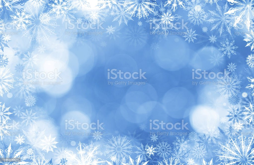 Snowflakes Infront Of Defocused Lights royalty-free stock photo