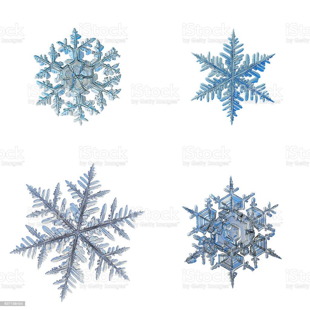 Snowflakes isolated on white background stock photo