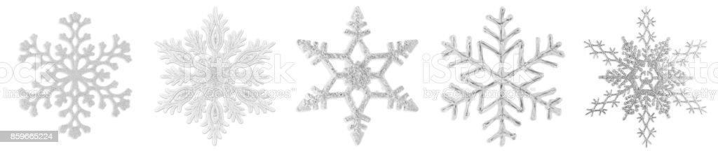 Snowflakes Isolated on White stock photo