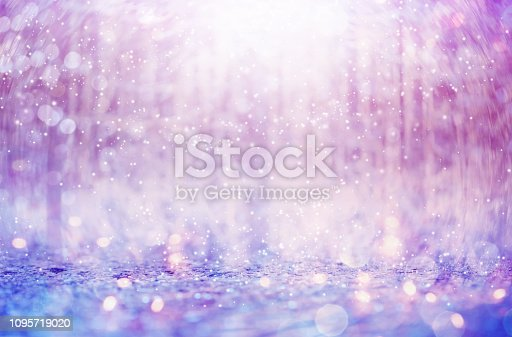 Beautiful snowflakes on an abstract shiny light background