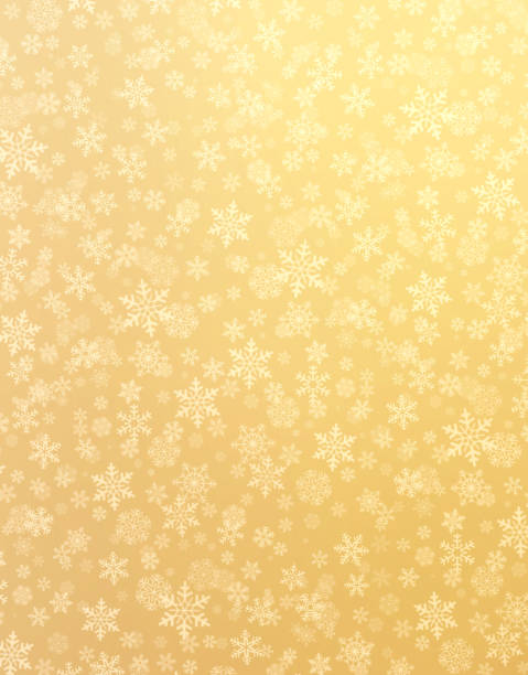 snowflakes on gold - wrapping paper stock photos and pictures