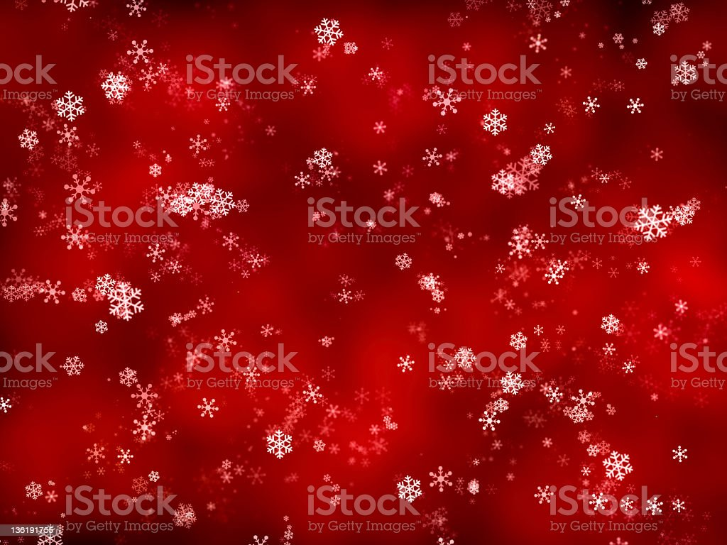Snowflakes on red (XXXL) royalty-free stock photo
