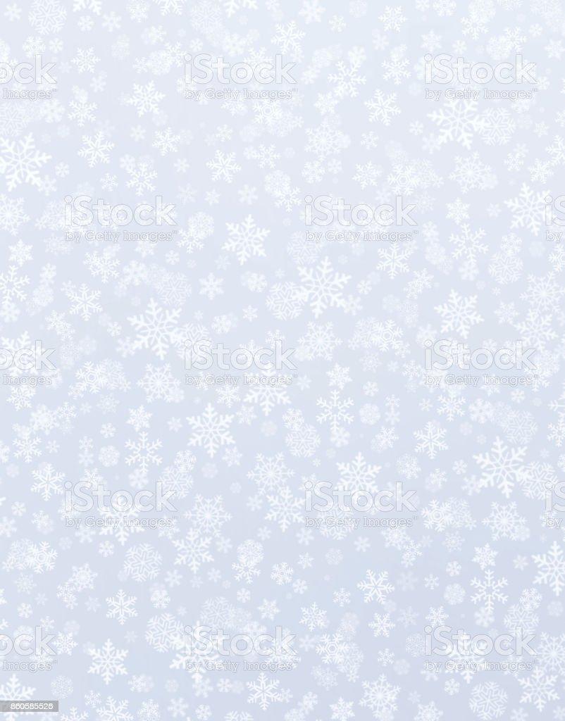 Snowflakes on silver stock photo