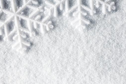 Snowflakes De Nieve De Invierno Navidad De Fondo Macro Foto de stock y más banco de imágenes de Abstracto