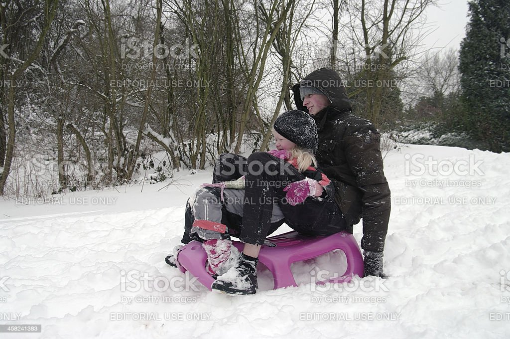 Snowfun in Holland royalty-free stock photo