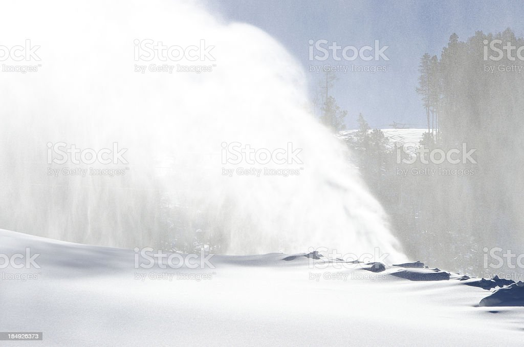 Snowmaking at Beaver Creek Colorado stock photo