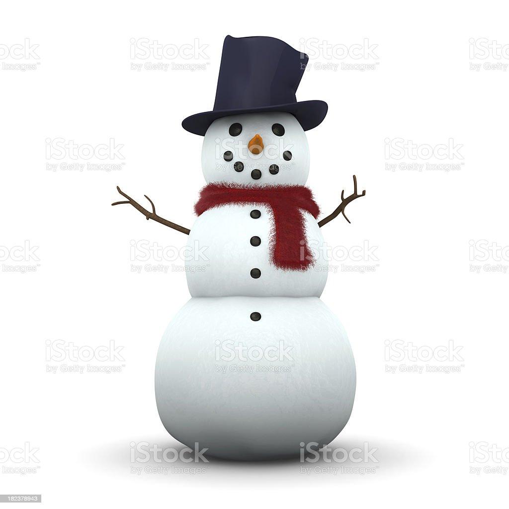 Snowman 3D stock photo