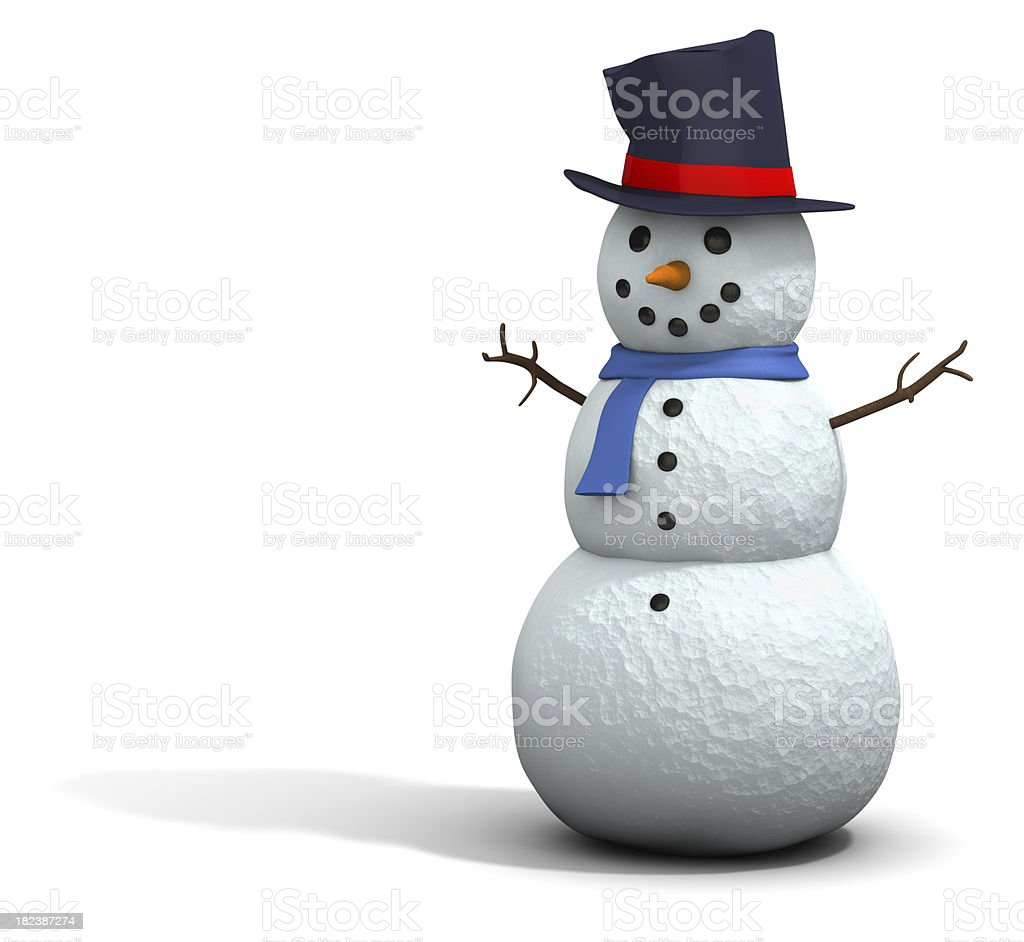 Snowman 3D royalty-free stock photo