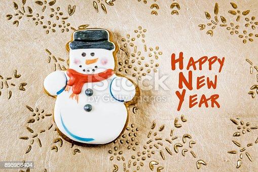 1056829102 istock photo Snowman christmas cookies 895986404