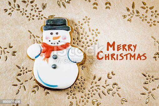 1056829102 istock photo Snowman christmas cookies 895986406