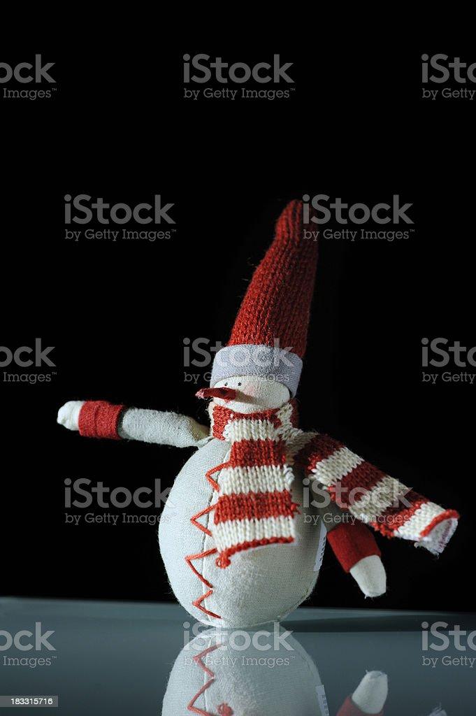Snowman Christmas Decoration royalty-free stock photo