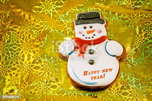 1056829102 istock photo Snowman cookie 895986316