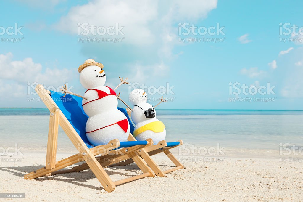 Snowman couple winter beach vacation in tropical paradise for Tropical vacations for couples