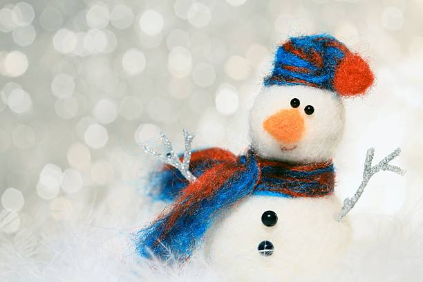 Snowman Greetings stock photo