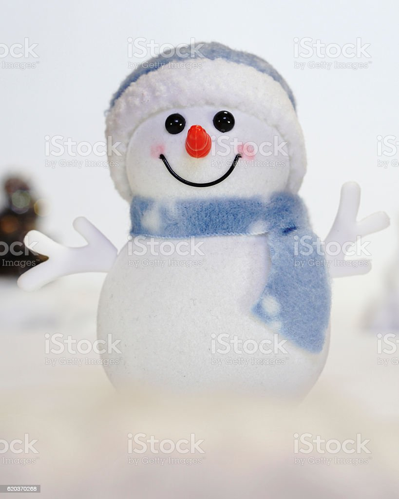 Boneco de neve na Neve foto de stock royalty-free