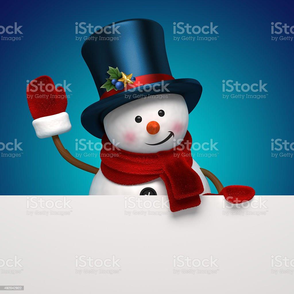 snowman night banner stock photo