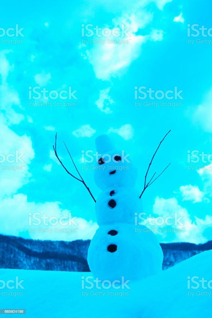 Snowman foto stock royalty-free