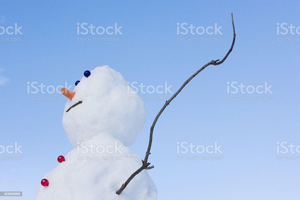 A Bałwan śniegowy zbiór zdjęć royalty-free