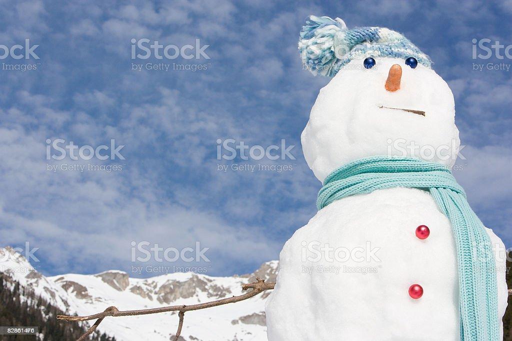 Un pupazzo di neve foto stock royalty-free