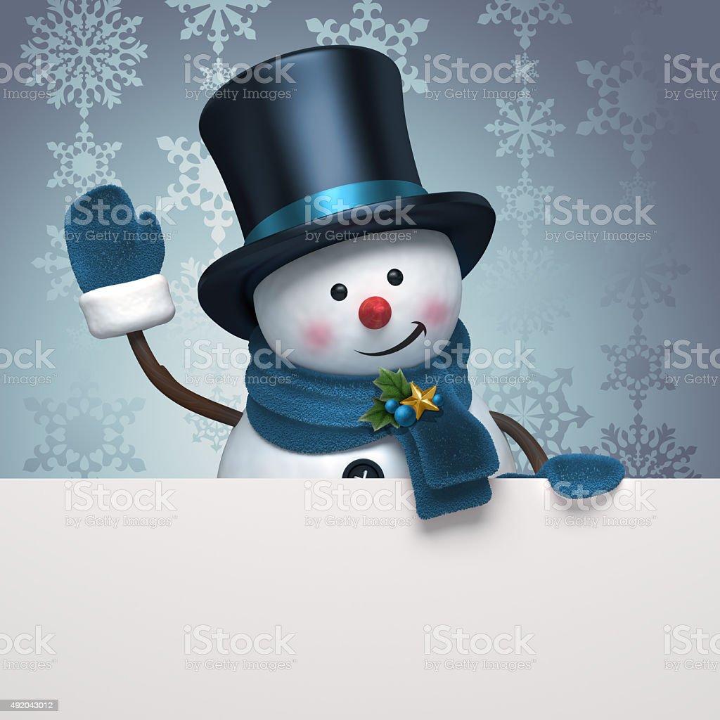 snowman silver banner stock photo