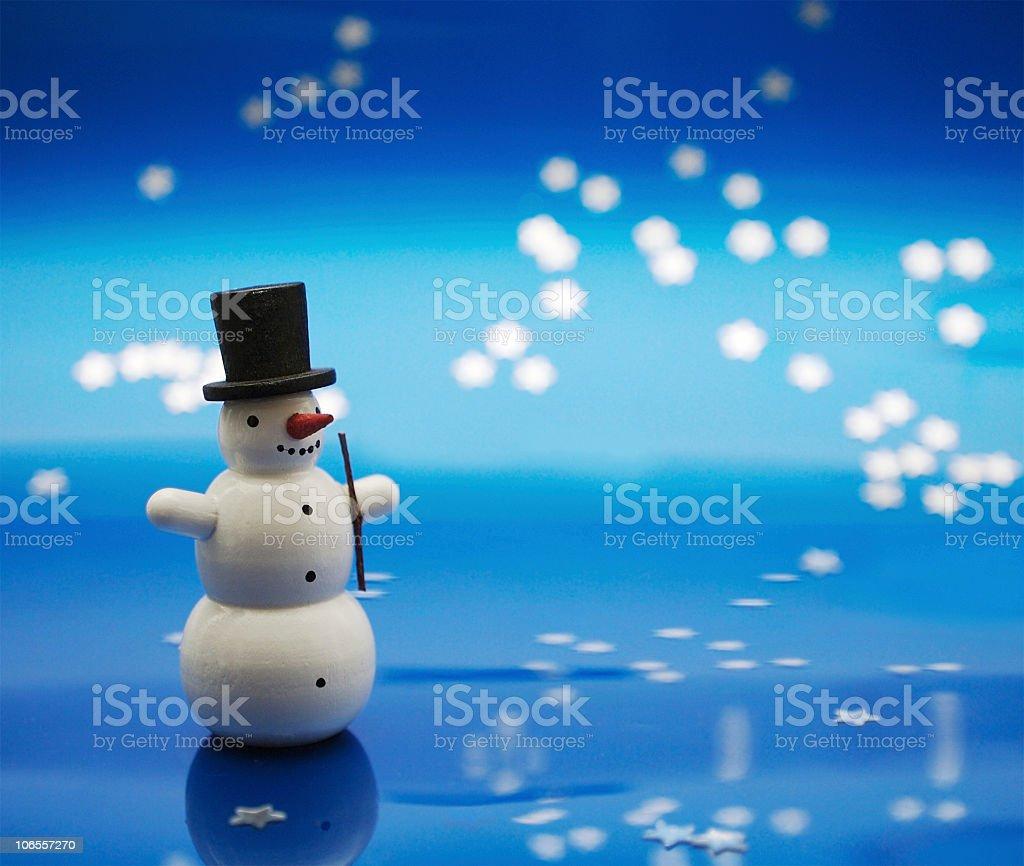 Snowman Stock Photo royalty-free stock photo