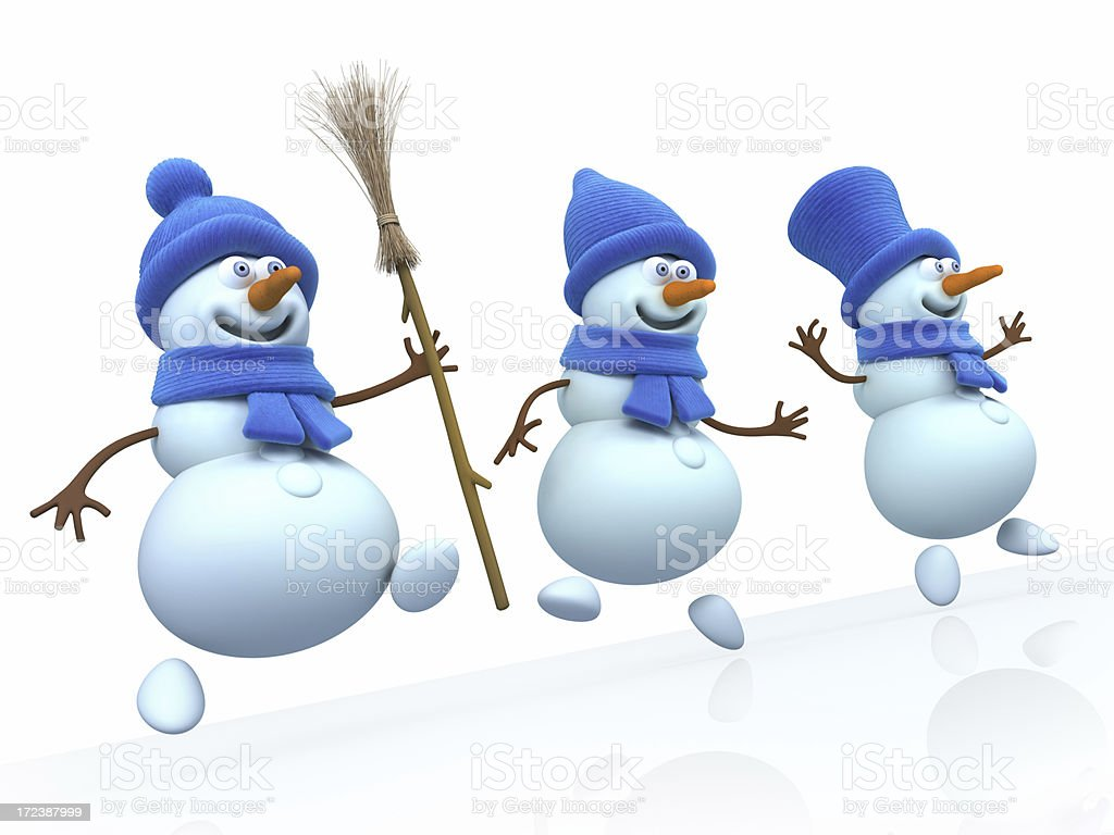 Snowmans stock photo