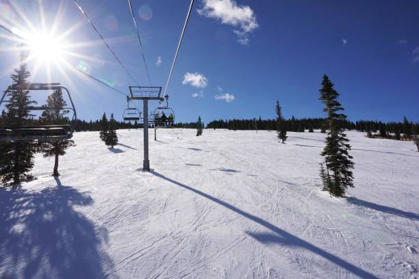 Snowmass Ski-ing stock photo