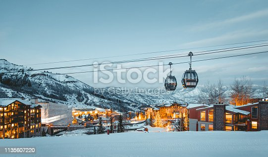 Views of the beautiful Snowmass Village in Colorado