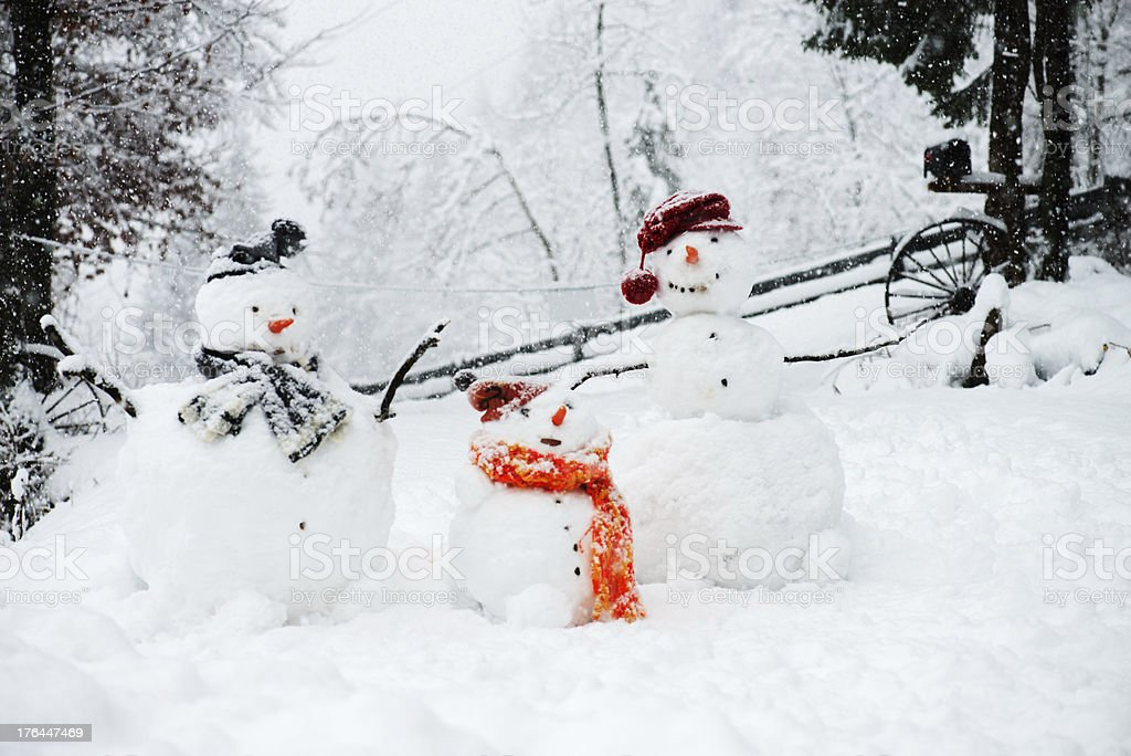 Snowmen royalty-free stock photo