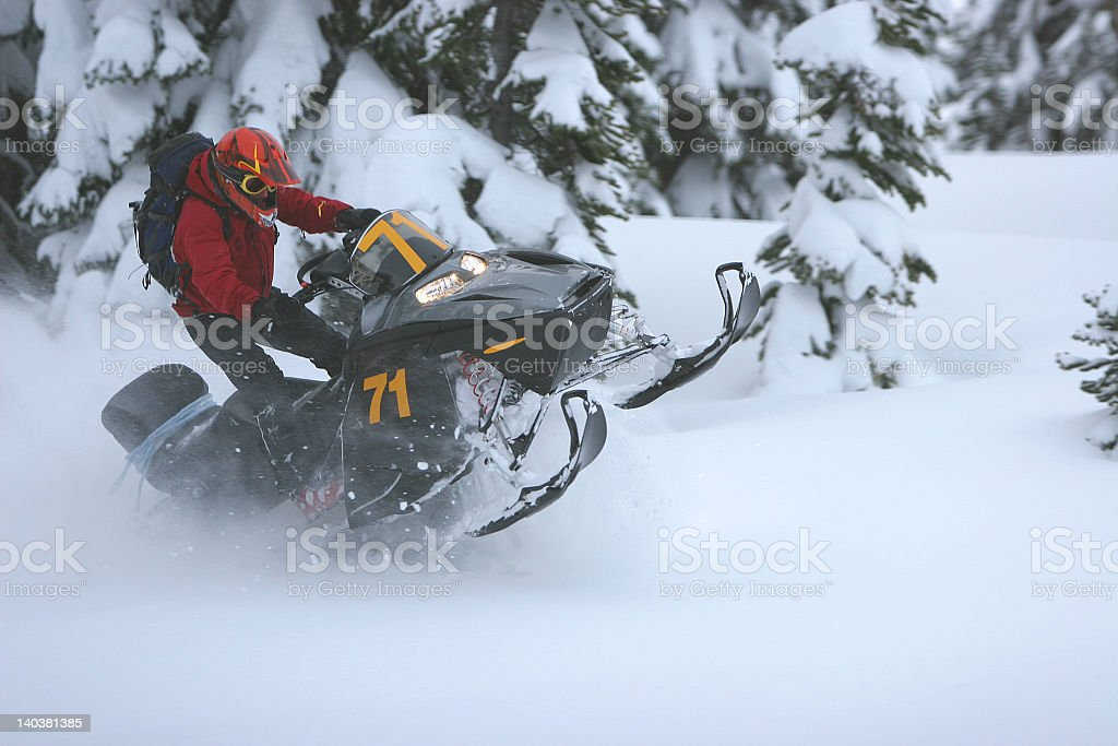 Snowmobile 1 royalty-free stock photo