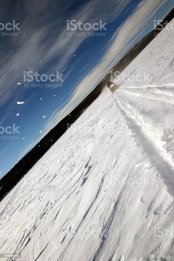 snowmobile action royalty-free stock photo
