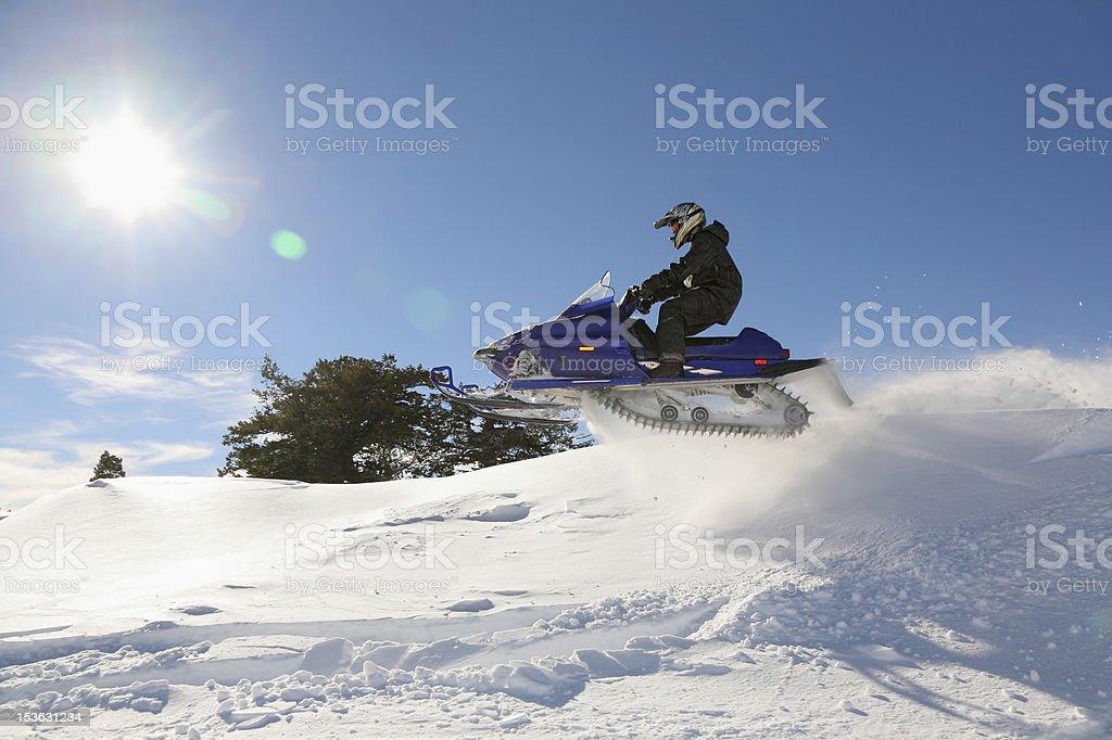 snowmobile high jump royalty-free stock photo