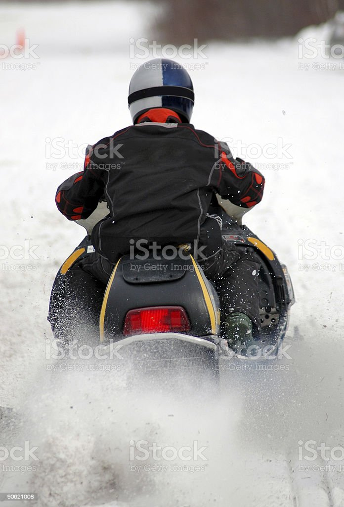 Snowmobile Launch royalty-free stock photo