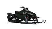 Snowmobile, motor sled vehicle, snow jet ski isolated on white background, 3D render