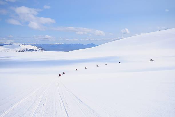 Schneemobil-auf-Gletscher – Foto