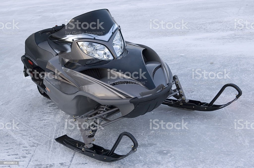 Snowmobile on Lake royalty-free stock photo