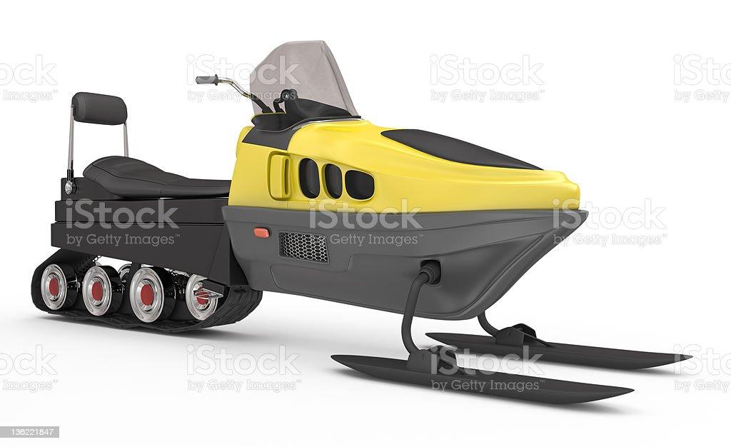 snowmobile on white royalty-free stock photo