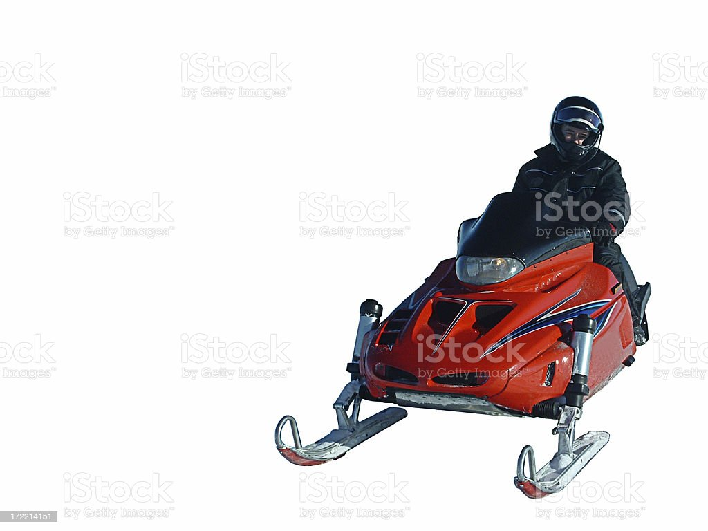 Snowmobile (isolated) royalty-free stock photo