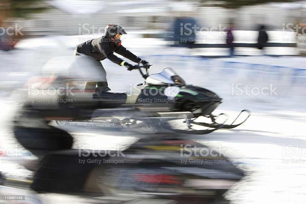 snowmobile race royalty-free stock photo