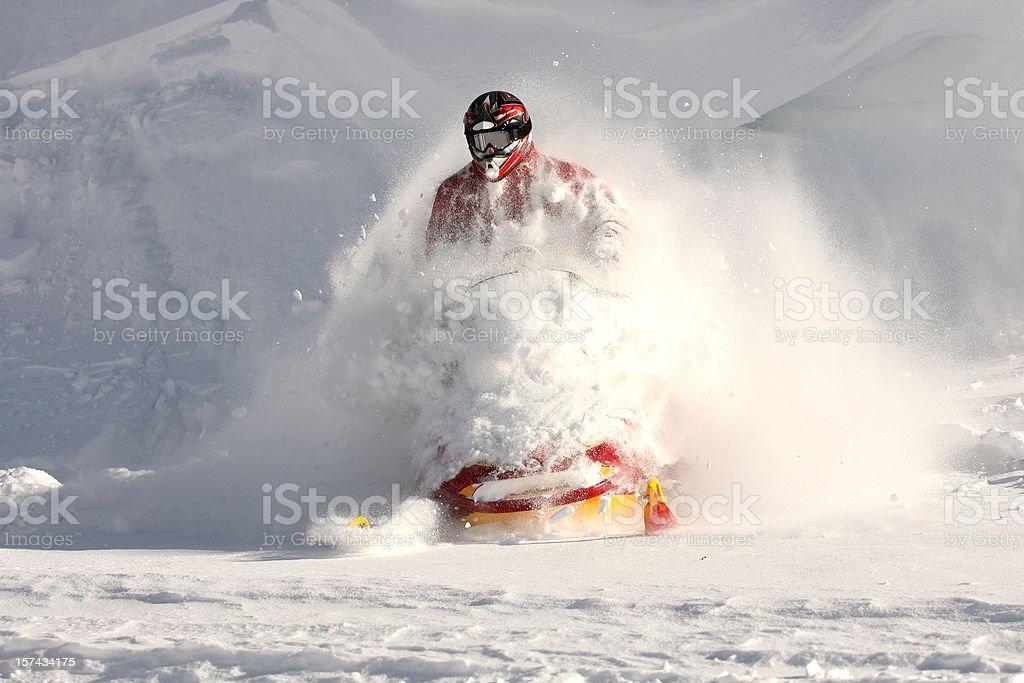 Snowmobiler stock photo