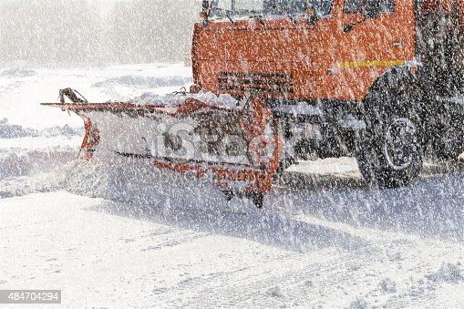 istock Snowplow at work 484704294