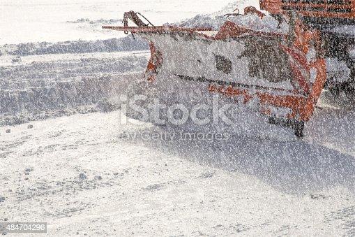 istock Snowplow at work 484704296