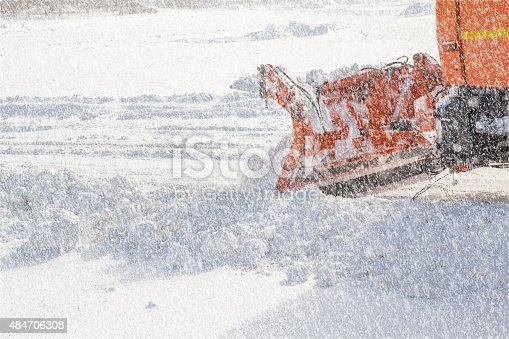 istock Snowplow at work 484706308