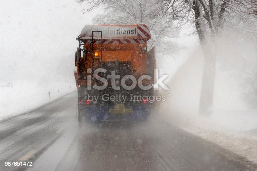 536171925 istock photo snowplow on road while winter conditions 987651472