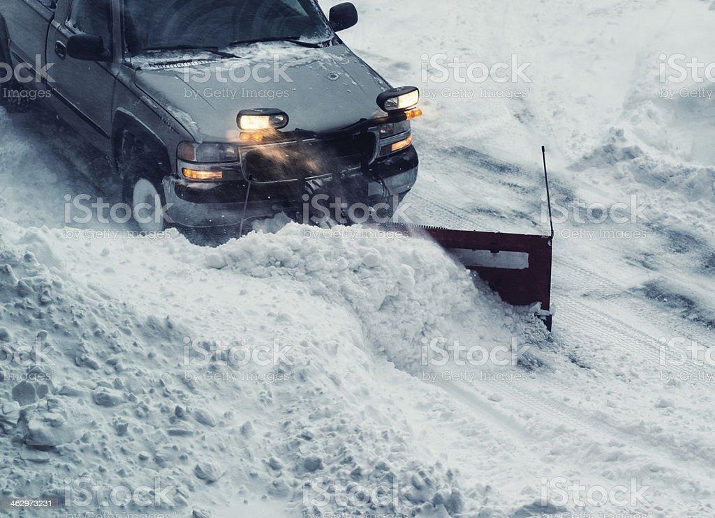 Snowplow Operator stock photo