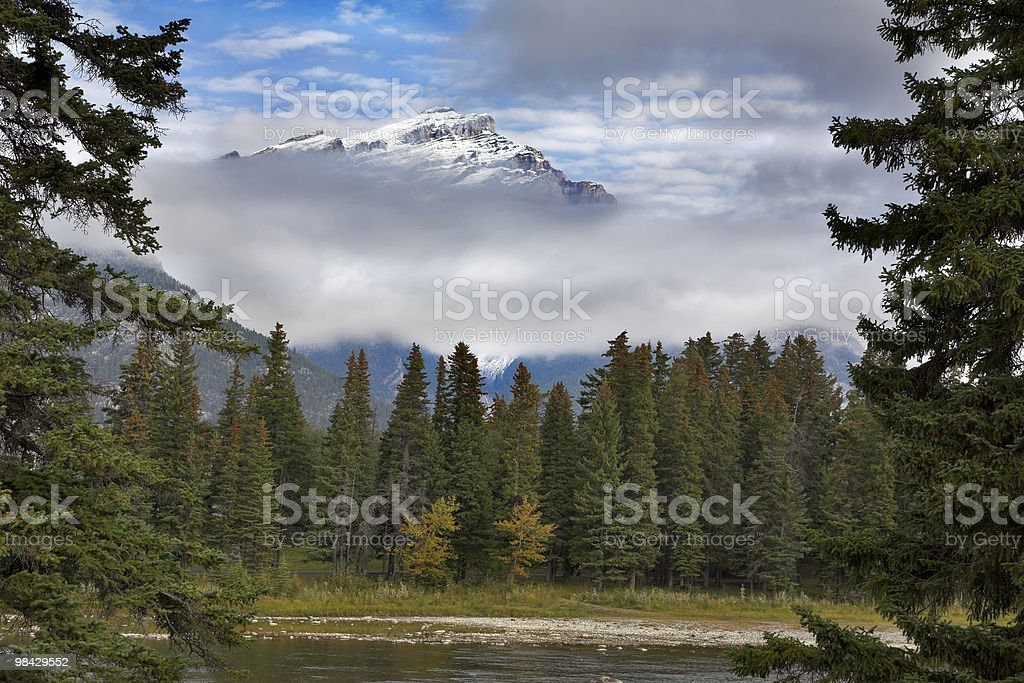 Nevi sopra le nuvole foto stock royalty-free