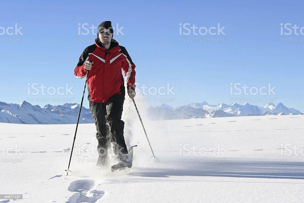 Snowshoe race stock photo