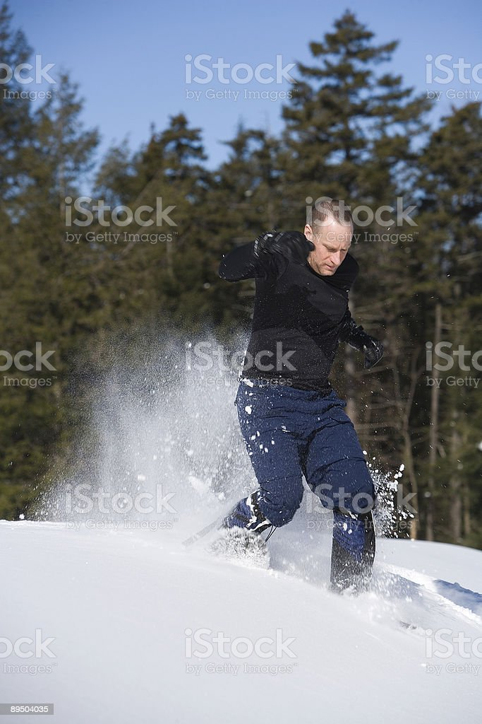 Snowshoeing adventure royalty-free stock photo
