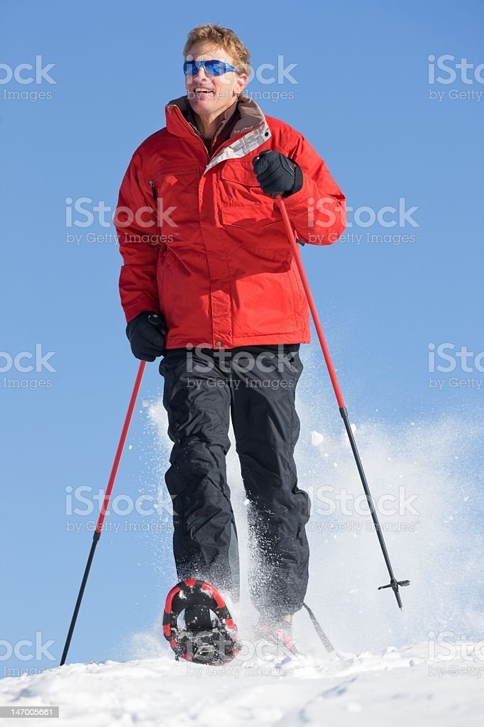 Snowshoeing In Colorado royalty-free stock photo