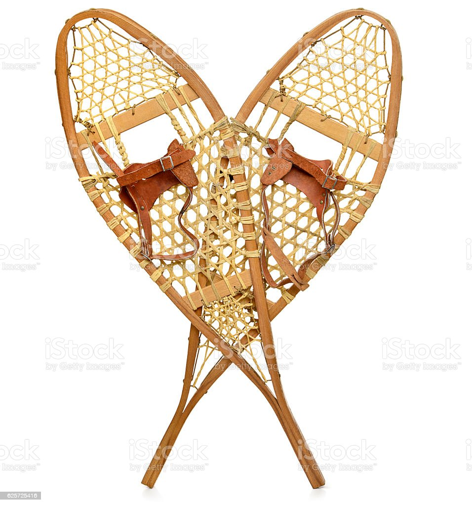 Snowshoes stock photo